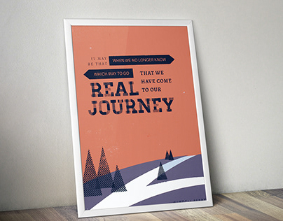 Real Journey Screen Print