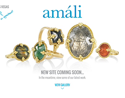 Amali Jewelry Coming Soon Page