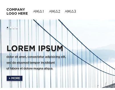 Hosting website design concept