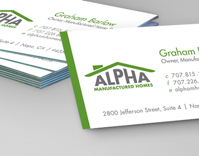 Alpha Manufactured Homes Branding