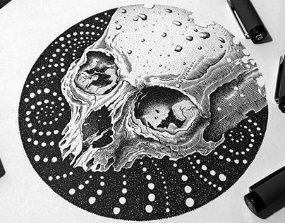 Skull - Pen & ink design