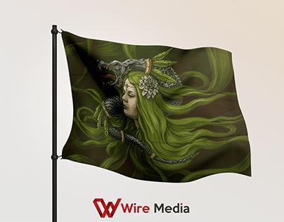 CBD Agrocasa Artwork Flag