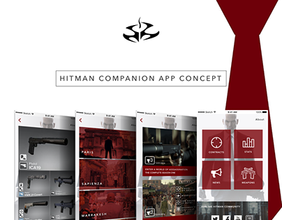 Hitman Companion App Concept