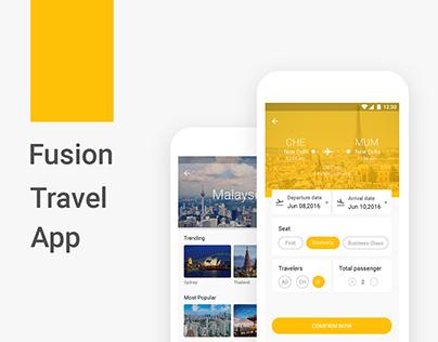 Fusion Travel App (Material Design Concept)