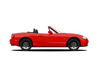 Mazda MX-5 Illustration
