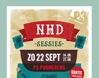 Concert poster P3 Purmerend