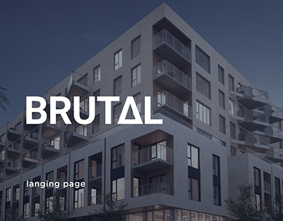 BRUTAL - Luxury club house Landing page