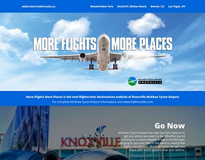 MoreFlightsMorePlaces.com website design