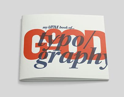 Good/Bad Typography Pocketbooks