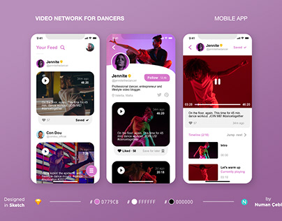 Video Network for Dancers Mobile App