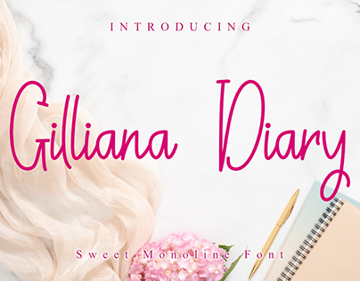 Free Gilliana Dairy Monoline Font