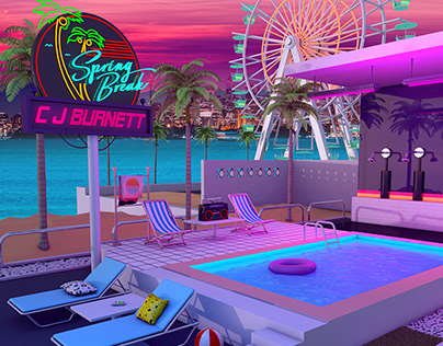 "CJ Burnett "" Spring Break "" Cover Artwork"