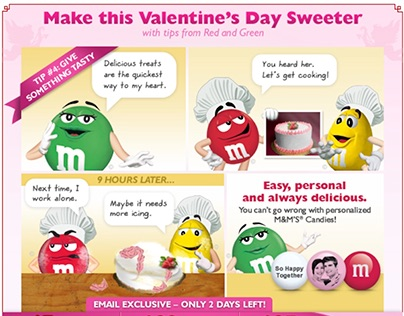 My M&M's Direct Response Valentine's Day Campaign