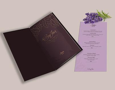 Provence style LeBonjour restaurant menu design