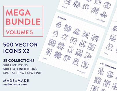 Line Icons – Mega Bundle Volume 5