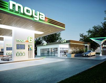 Projekt i wizualizacje stacji benzynowej