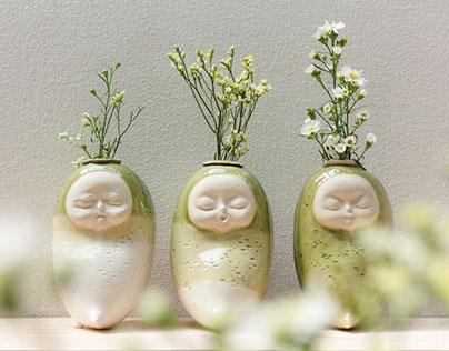 Baby Daikon #2 /Flower Pot