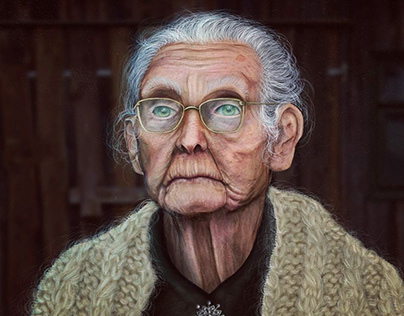 3D old woman