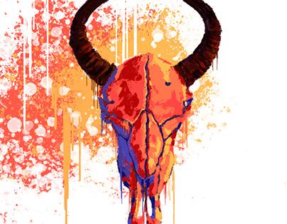 Bovine skull
