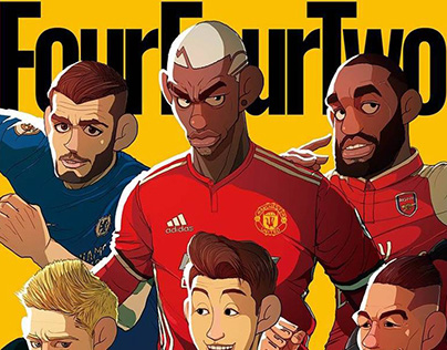 Four Four Two Magazine Cover Illustration