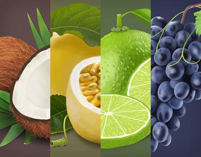Frutas e Sabores para Marca de Sorvetes