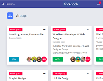 Facebook groups redesign
