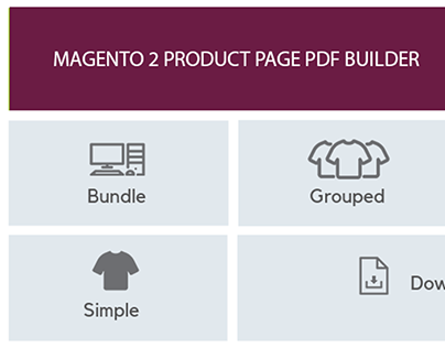 Magento 2 types of products