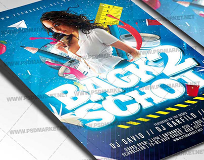 School Party Flyer - PSD Template