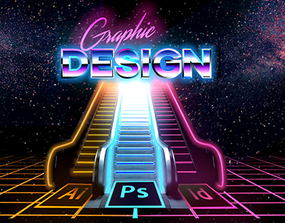 Graphic Design Synthwave Poster