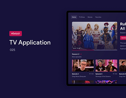 TV Application | DailyUI | 025