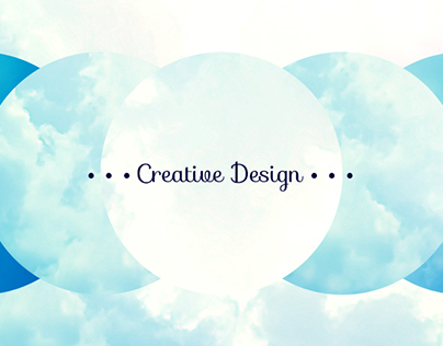 Shifted Circular Clouds - a banner graphic