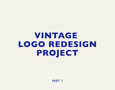Vintage Logo Redesign Project Part 1