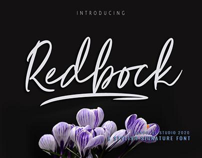 Redbock Signature Font