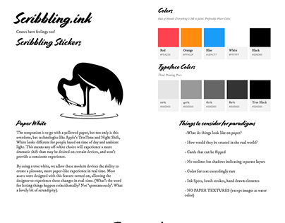 Scribbling Ink Design System WIP