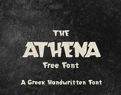 Athena VKF | Free Greek Handwritten Font