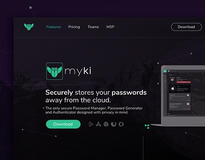 Myki - Website Redesign - Web Design
