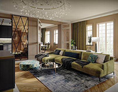 3D Photoreal Interior Rendering - Luxury Apartment