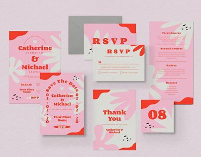 Tropicl Summer Wedding Invitation Template