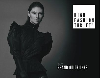 High Fashion Thrift Rebrand