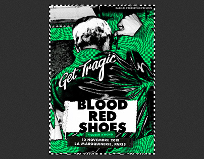 Blood Red Shoes Gigposter
