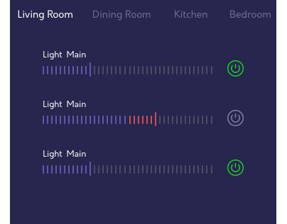Smart Home Control - Dark