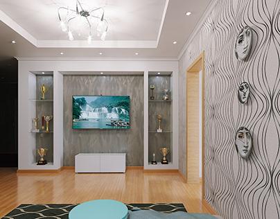 Work draft living room 3-room apartment
