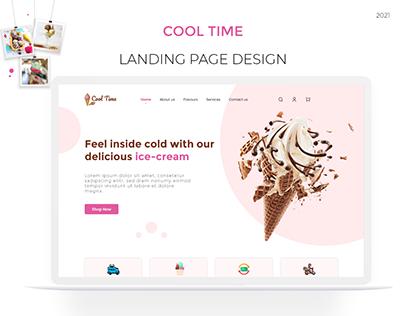Landing page Ice-cream 🍦🍨