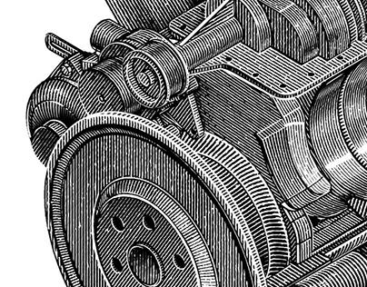 Internal combustion engine illustration