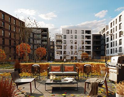 CGI: Residential building in Heidelberg, Germany