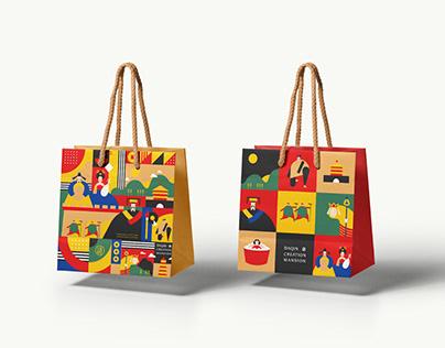 Brand Graphic Design |主視覺設計- 秦唐文創插畫
