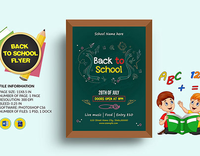 Printable Back to School Party Flyer Template