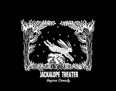 Linocut Design Jackalope Theater