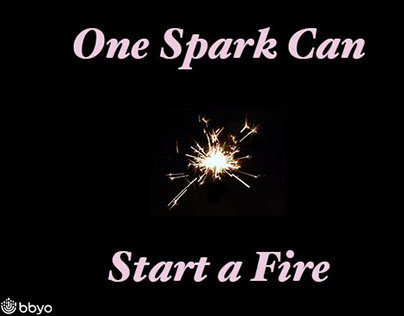 one spark can start a fire