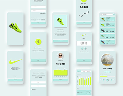 Neomorphism Soft UI Fitness Running Nike App